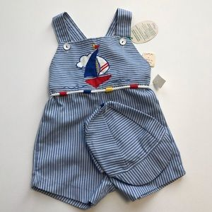 Vintage Tiny Tots Sailor outfit & Hat 18m